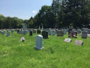 cemetery headstones